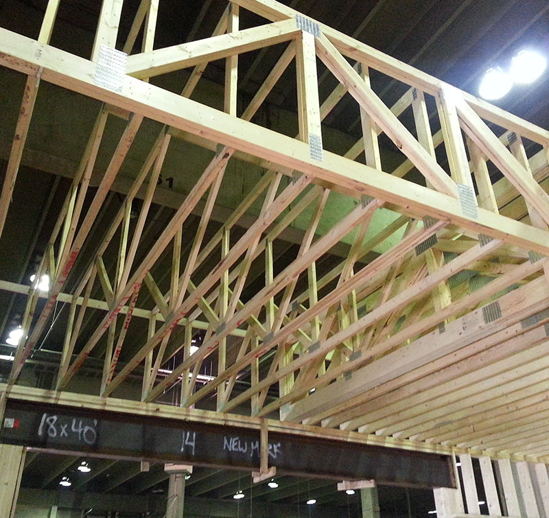 Open web floor joists edmonton for Open web floor trusses